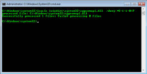 Deny all access to a DLL using ICACLS