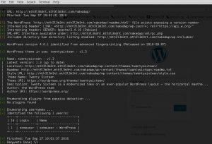 Default wordpress install screaming fingerprint