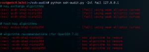 Failed SSH Configuration