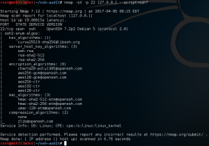 Check supported SSH algorithms using Nmap